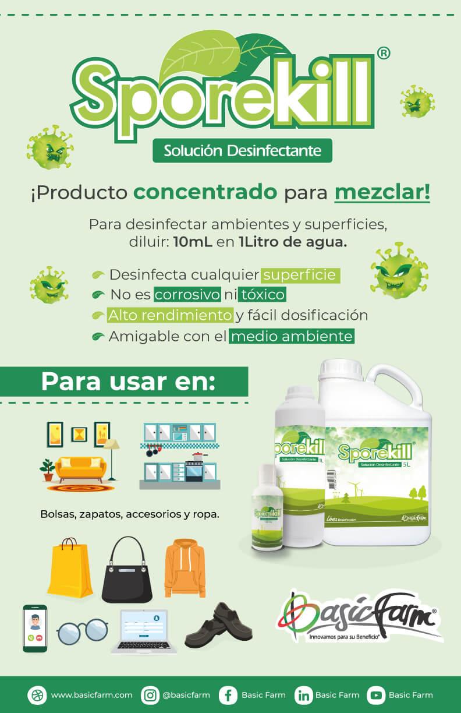 infografia uso Sporekill desinfectante 2