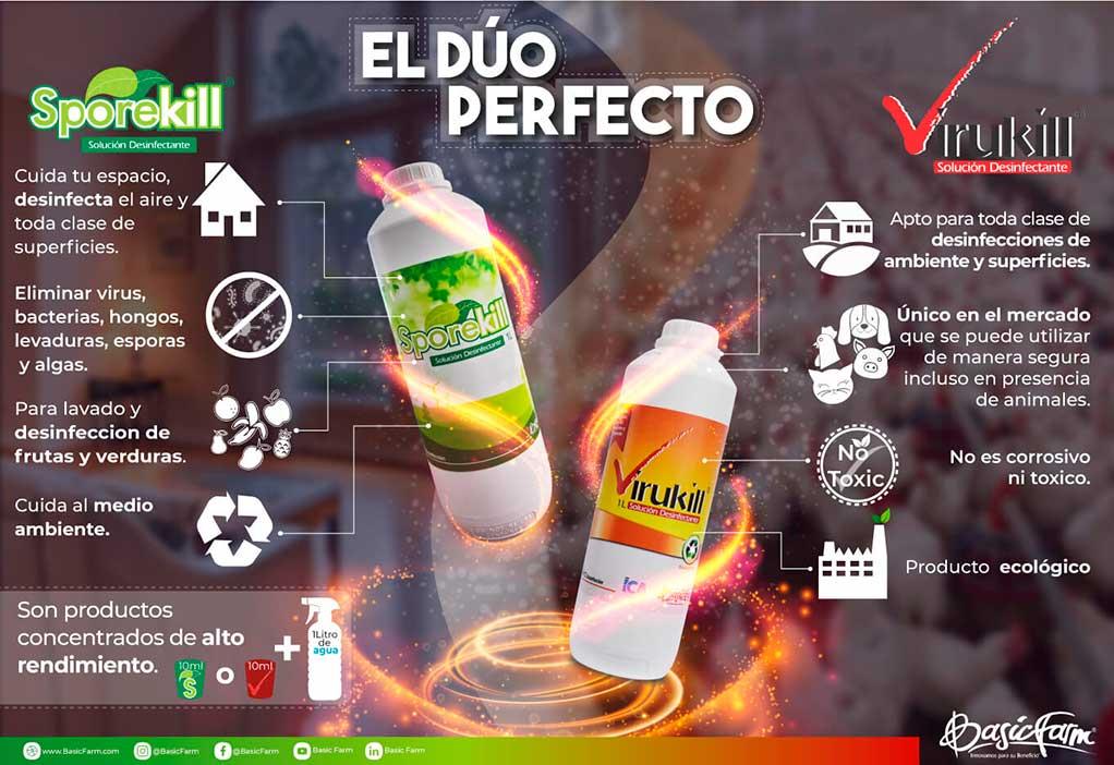 sporekill y virukill desinfectante basic farm