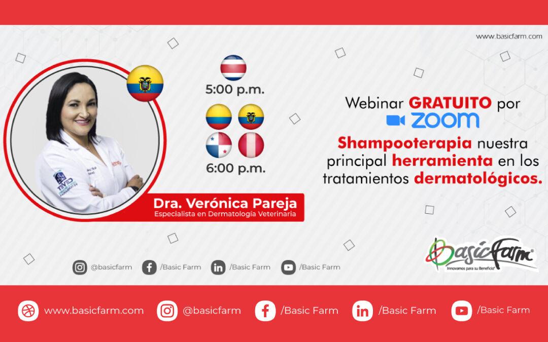 Shampooterapia – Herramienta en tratamientos Dermatológicos   Webinar con la Dra. Verónica Pareja