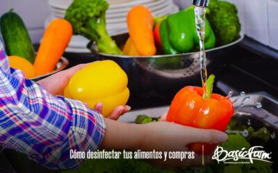 Cómo desinfectar tus alimentos y compras