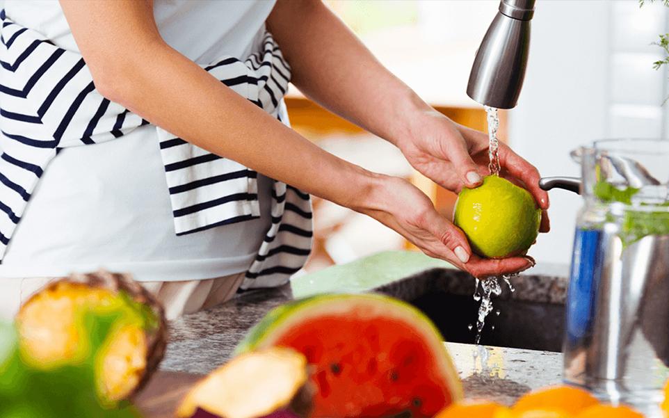 como desinfectar alimentos