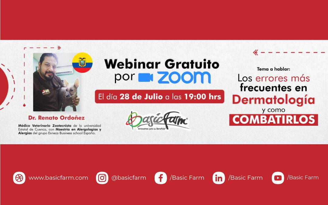 Los errores más frecuentes en Dermatología Veterinaria y cómo combatirlos | Webinar Dr. Renato Ordoñez
