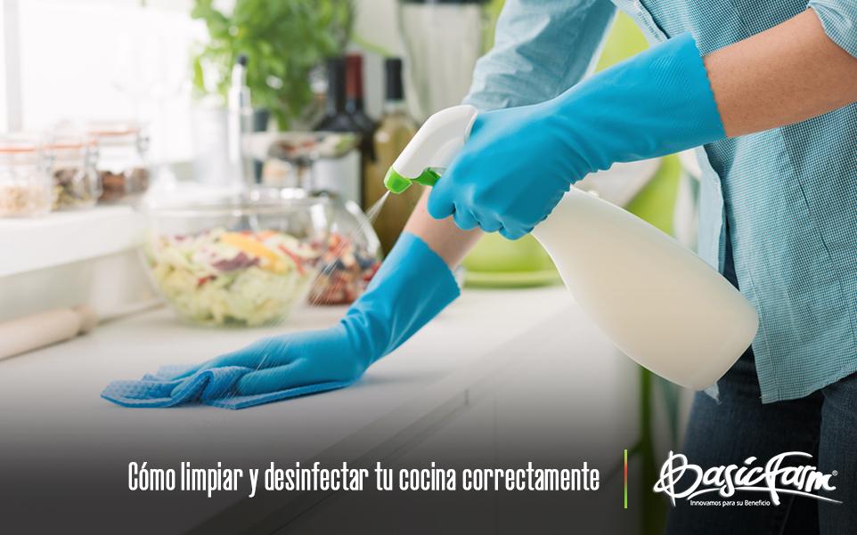 Cómo limpiar y desinfectar tu cocina correctamente