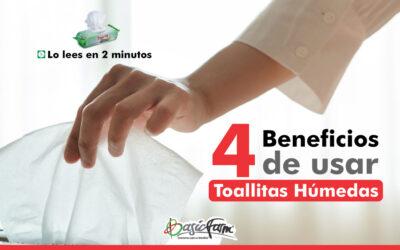 Conoce 4 beneficios de usar toallitas húmedas