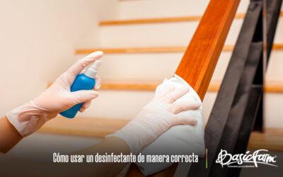 Cómo usar un desinfectante de manera correcta