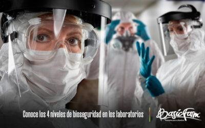 Conoce los 4 niveles de bioseguridad en los laboratorios