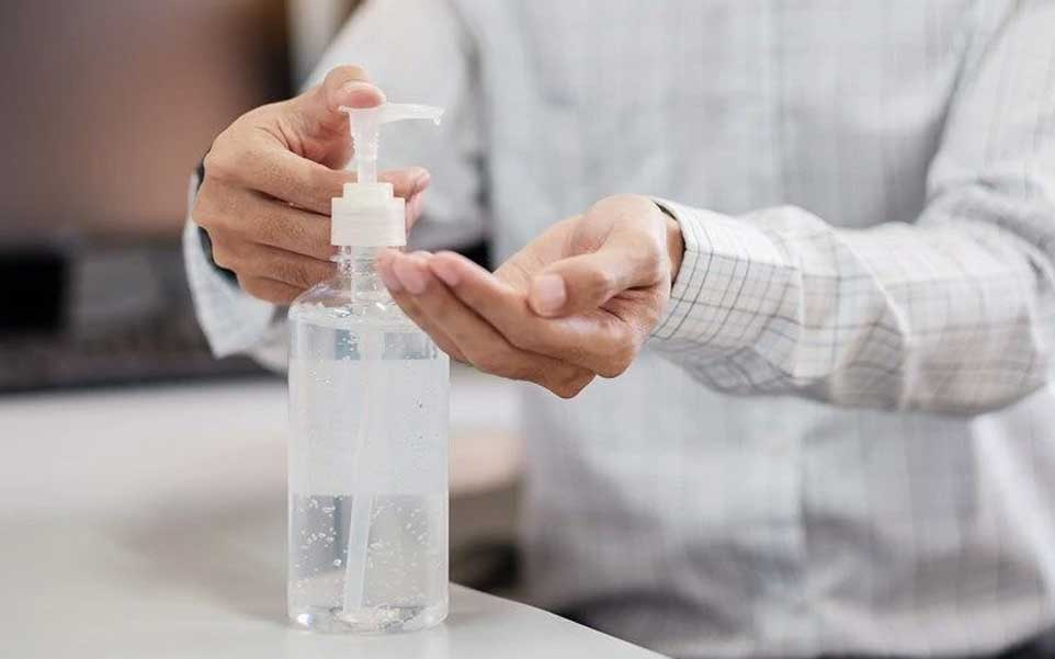 oficina manos gel antibacterial